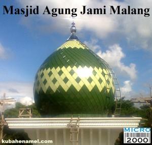 kubah masjid agung malang